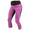 PEARL iZUMi W's Flash 3/4 Shorts Black/Purple Wine Print
